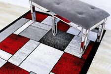 RUG AREA RUG CARPET FLOORING 1794 RED ABSTRACT CARPET AREA RUG LARGE NEW RUG