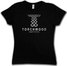 TORCHWOOD INSTITUTE LOGO GIRLIE T-SHIRT - Jack Doctor Dr TV Series Who Harkness