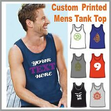 Vest Tanktop mens Custom printed with your Logo 6 colours S-2XL
