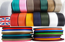 19,25,32,38POLYPROPYLENE WEBBING STRAPPING BAGS WEAVE LEAD TAPE VARIOUS COLOURS