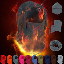Fleece Balaclava Hood Swat Ski Mask Bike Beanies Winter Wind Stopper Face Hats 1