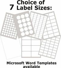 Gloss Clear Transparent Laser Labels Round or Rectangle Stickers 5 A4 Sheets