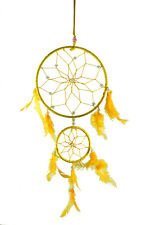 Double Circle-shaped Dream Catcher with Feathers Wall Hanging Home Decorative