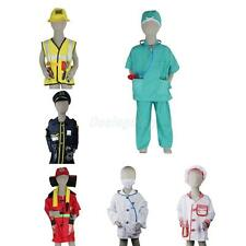 Boys Girls Halloween Fancy Dress up Emergency Services Costume Outfit Cosplay