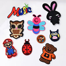 Cute Cartoon Embroidery Brooch Pin Fabric Sticker Iron On Patch Clothes Applique