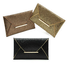 New Womens Sequins Clutch Envelope Handbag Evening Party Cocktail Prom Bag Purse