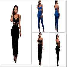 Sexy Women Bustier Padded Bodycon Jumpsuit Romper Party Playsuit Club Trousers