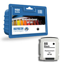 1 REMANUFACTURED HP HEWLETT PACKARD BLACK INK CARTRIDGE HP 88 HP88XL 88XL