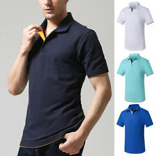 Casual Style Stylish Short Sleeve T-shirt Mens Slim Fit POLO Shirt Tops Tee LS