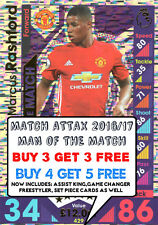 2016/17 MATCH ATTAX MAN OF THE MATCH CARDS BUY 2 GET 2 FREE MOTM ATTACK 16/17