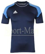 Mens Adidas Camp 13 Navy/White Climacool Formotion Crew Neck T-Shirt Size
