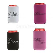 Wedding Stubby Holder Beer Can Cooler Bridal Party Bomboniere Favour