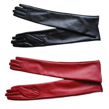 Winter Long PU Leather Gloves Party Women Gloves Warm Outdoors Long Sexy Gloves