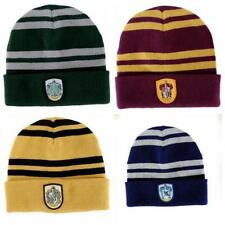 Harry Potter Logo Stripes Knit Beanie Hat Cap Deathly Hallows Costume Cosplay