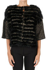 PINKO Woman Knit Cardigan with Lapin Fur New with Tags and Original