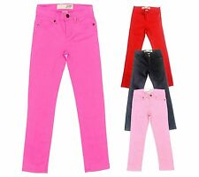 Girls Kids Slim Skinny Joe Fresh Pink Denim Jeans Trousers Pants 2-10