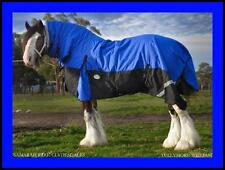 LOVE MY HORSE 1200D 7'0 - 7'6 Ripstop Clydy Heavy Horse Winter Combo Rug Blue