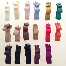 5m x 25mm High Quality  Double Side(face) Satin Ribbon,Wedding ,Hair Bow.