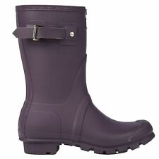 Hunter Original Short Wellington Purple Womens Rain Boots