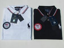 NWT Polo Ralph Lauren 2016 Olympics Team USA Custom Fit Polo Navy & White Sz L