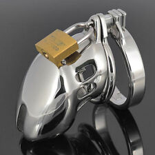 New Sexy Male Chastity Device Bird With Lock Stainless Steel Cock Cage