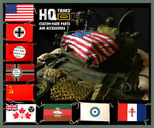 1/16 Scale Rc Tank Recognition Flags (with Authentic Brass Eyelets & Lanyards)