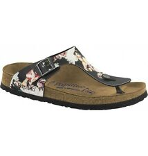 Papillio Gizeh BF $149rrp Painted Bloom Black SOFT FOOTBED BNIB ***CLEARANCE***
