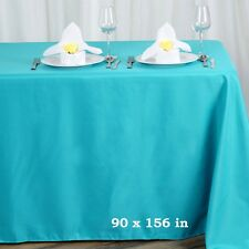 90x156 in. Polyester Rectangle Seamless Tablecloth~Wedding~NEW