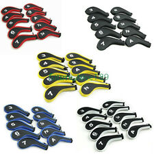 10 ZIPPER GOLF IRON COVER HEAD COVERS WITH NUMBERS FOR CALLAWAY PING TAYLORMADE
