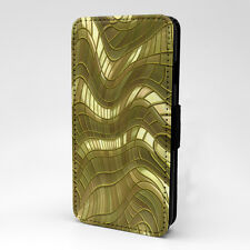 Abstract Metal Print Design Pattern Flip Case Cover For Apple iPhone - P417