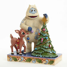 Rudolph the Red-Nosed Reindeer Bumble with Tree Jim Shore Christmas Xmas NIB