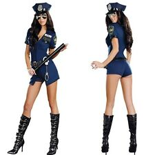 Sexy Women Ladies Police Fancy Halloween Costume Sexy Cop Outfit Woman Cosplay