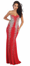 Sparkling Sexy Fitted Strapless Evening Dresses Formal