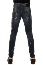 DSQUARED2 New Men Black Stretch Denim Jeans Pants M.B. Made In Italy