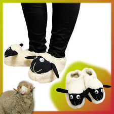 WINTER WOMEN FLEECE WARM SHEEP SOFT INDOOR HOME SLIPPERS SHOES Shaun the Sheep