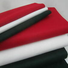 WOOL FELT FABRIC - QUALITY - CHRISTMAS GREEN RED  ANTIQUE WHITE 90cm x 10cm plus