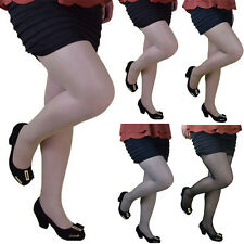 Plus Size Women Sexy Hosiery Footed Tights Pantyhose Stockings Socks 4 Colors