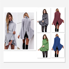 Sexy Women Flared Bell Sleeve Knit Korean Fashion Top Blouses Sweater Cardigan