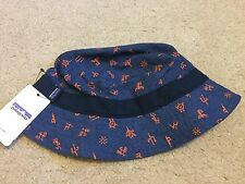 New Patagonia Wavefarer Bucket Hat Cap Scorpo: Navy Blue Sizes S/M & L/XL Avail.