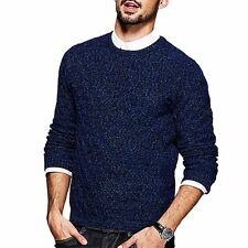 M  L  XL  XXL Mens Simple Fashion Pullover Long Sleeve Slim Round Neck Sweater