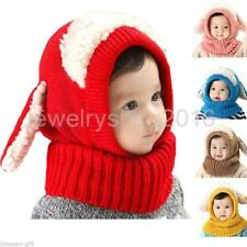Baby Kids Boy Girl Winter Beanie Hat Earflap Knitted Crochet Cap Hooded-Dog