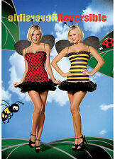 Dreamgirl USA 5248 Bugging Out 2 in 1 Women Bee & Ladybug Costume Reversible