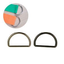 10XNew Metal Sliver D Ring D-rings Purse Ring Buckles For Webbing Strapping 25mm