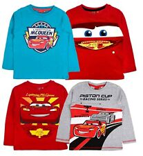 Disney Cars Lightning McQueen Long Sleeve T Shirt 100% Cotton Boys Top Size