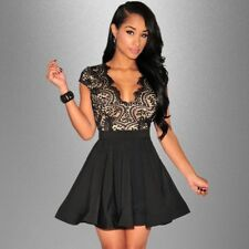 Women Vestido De Festa Black Party short Dresses Robe Femme  sexy club Lace Dres