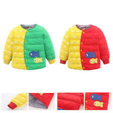 Kids Boys Girls Winter Unisex Fur Thick Warm Down Jacket Parka Outwear Clothing