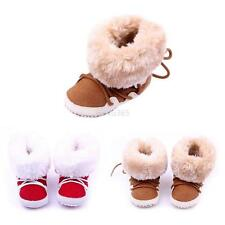 Baby Boy Girl Toddler Winter Warm Boots Soft Sole Crib Shoes Size 0-12months