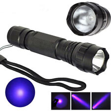 UV Ultra Violet CREE WF501B 365NM Blacklight Flashlight Multi Function Laser