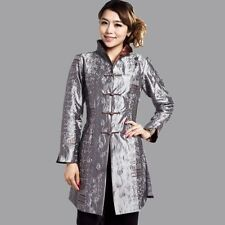 Traditional Chinese Jacket Silk Satin Embroidery Coat Plus Size