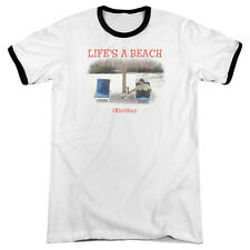 OFFICE SPACE LIFES A BEACH Licensed Men's Ringer Graphic Tee Shirt SM-3XL